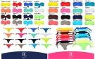 Bikini donna a fascia arricciato con slip Made in Italy Colori Fluo